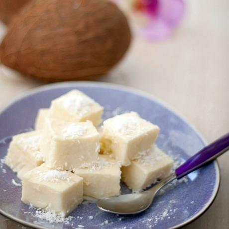 Hawajski, kokosowy deser haupia