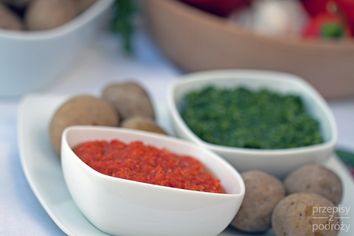 Kanaryjskie sosy mojo picon i mojo verde