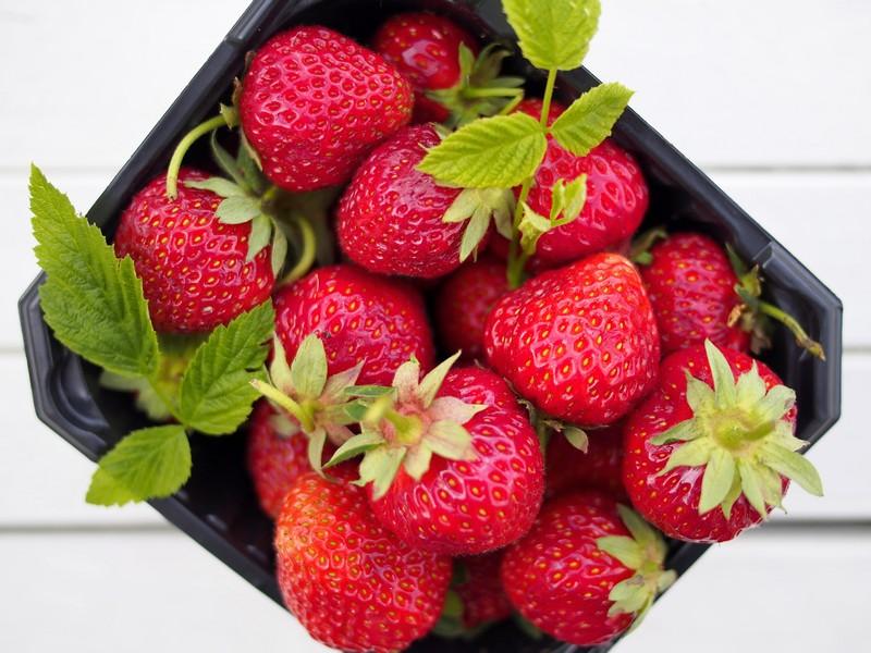 Riskrem med jordbærsaus