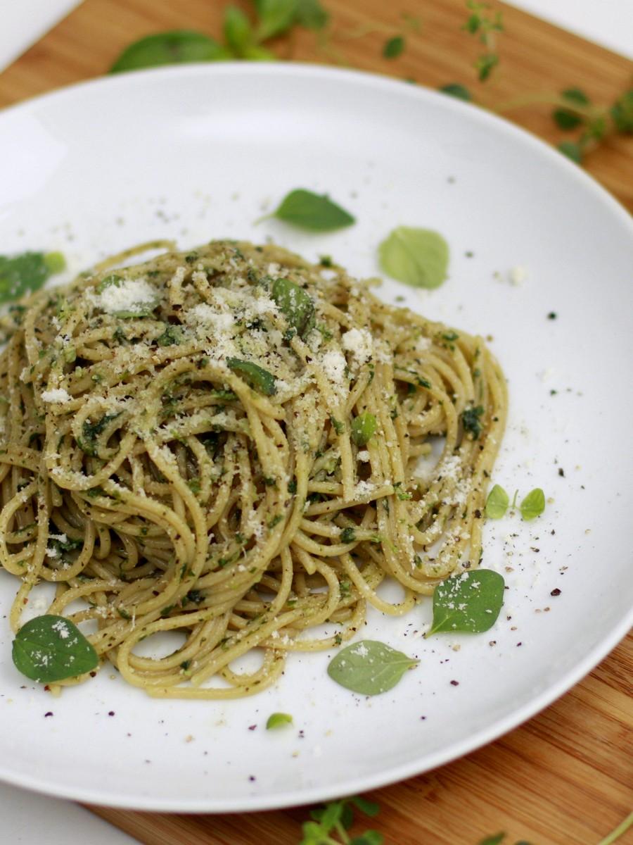 Spaghetti z ziołami