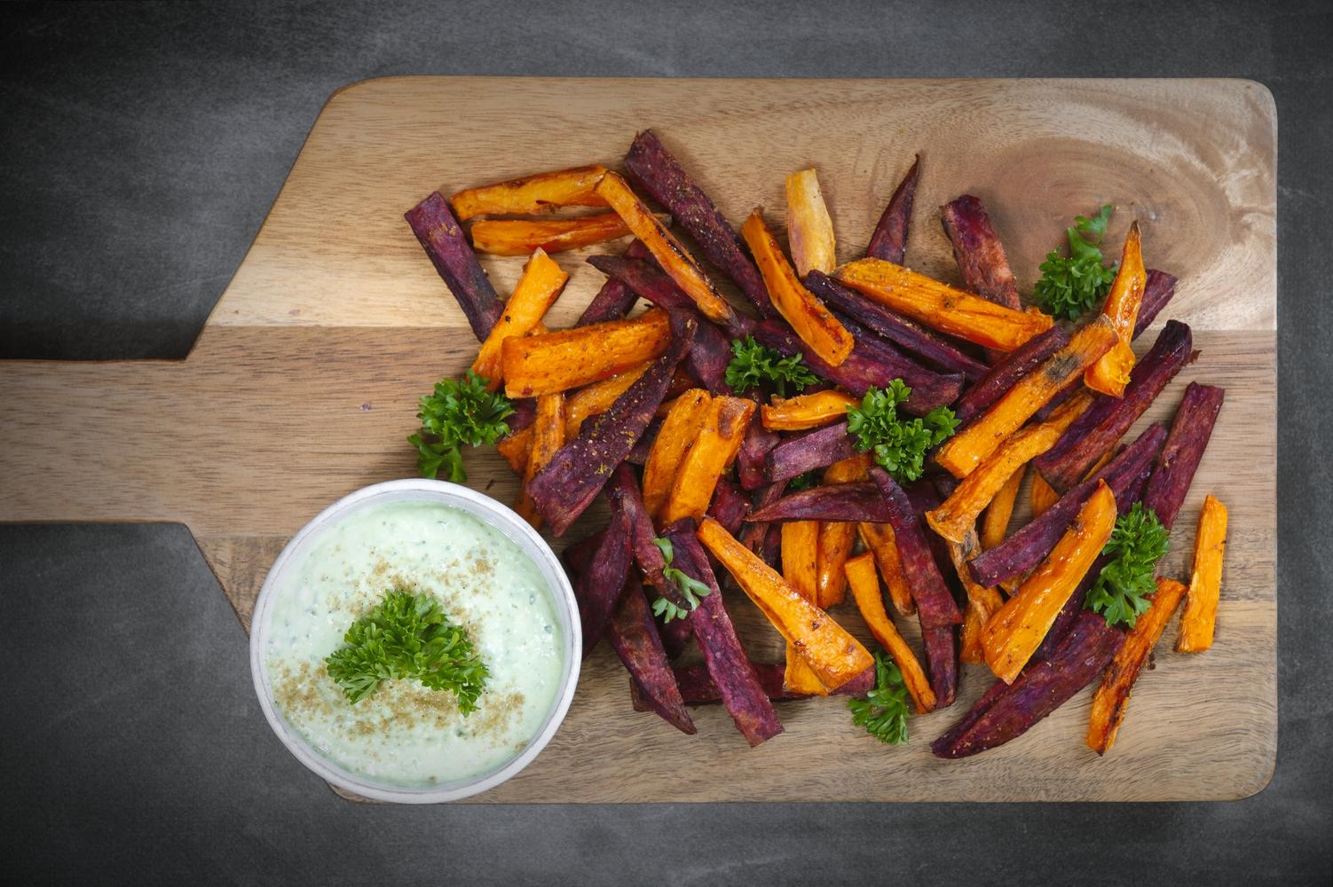 Kumara nowozelandzka i frytki z batatów