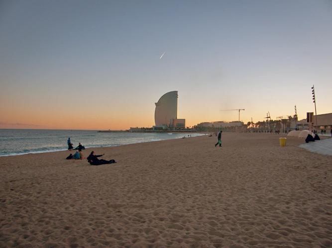 Plaża barcelońska