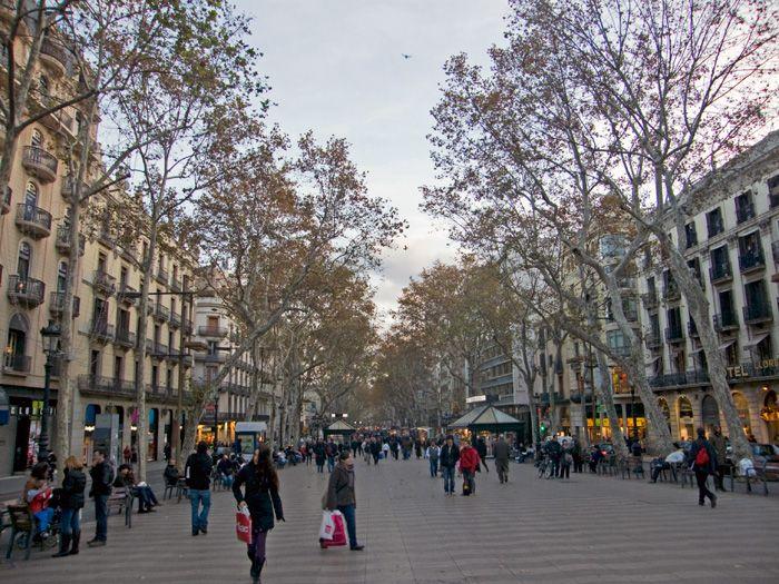 Las Ramlas w Barcelonie