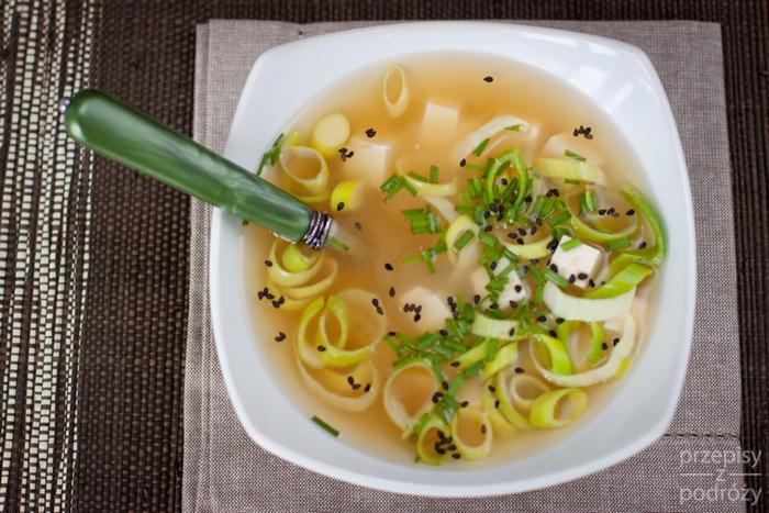 Japońska zupa miso