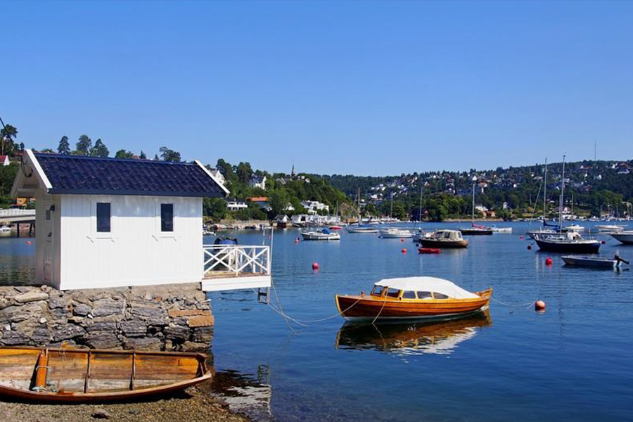 Letnie wspomnienia z wysp na Bunnefjorden