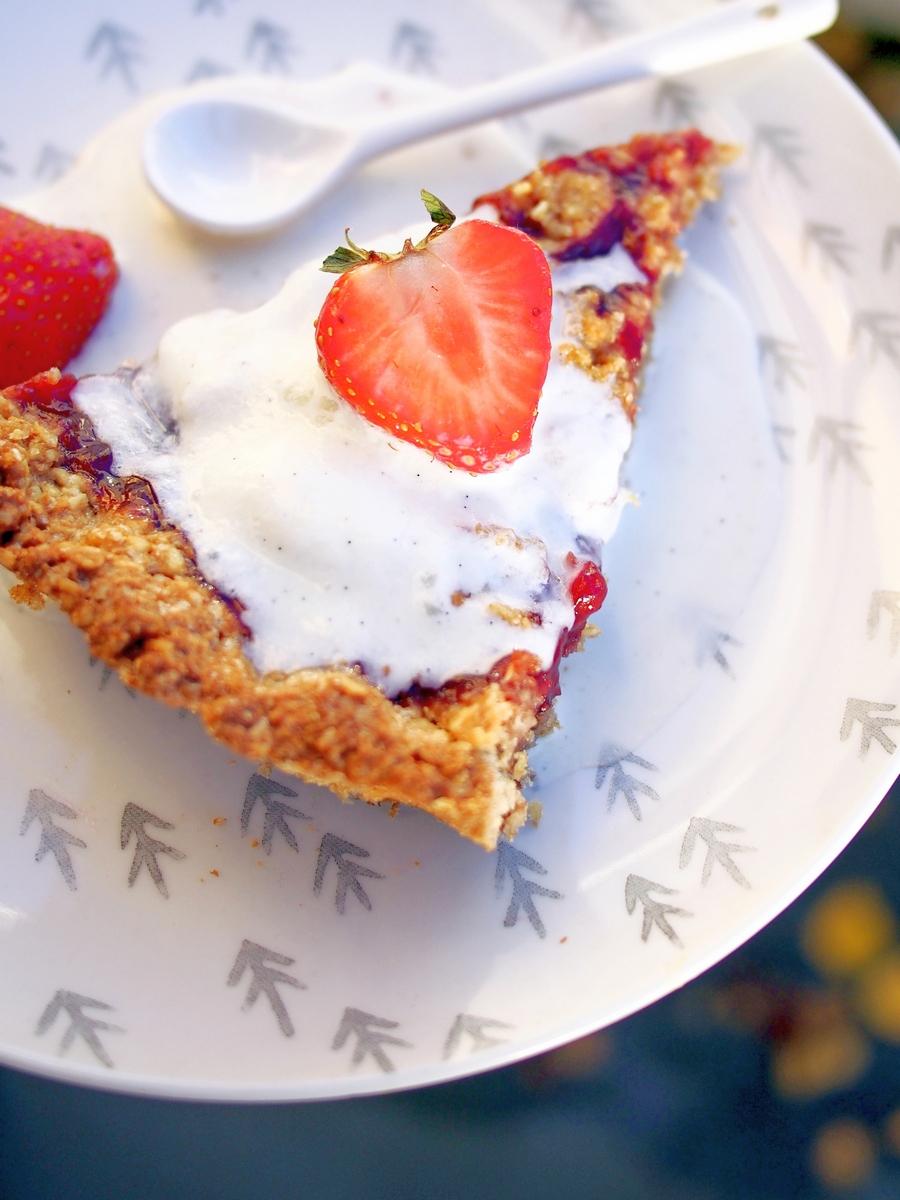 Islandzka tarta rabarbarowa